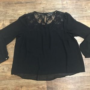 Forever 21+ Black Dress Top